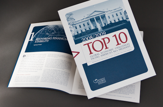 brochure for Washington DC thinktank