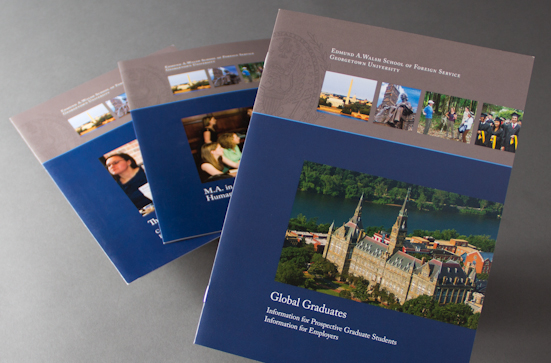 university brochure series design