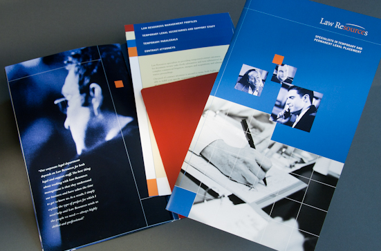 legal staff placement company brochure design
